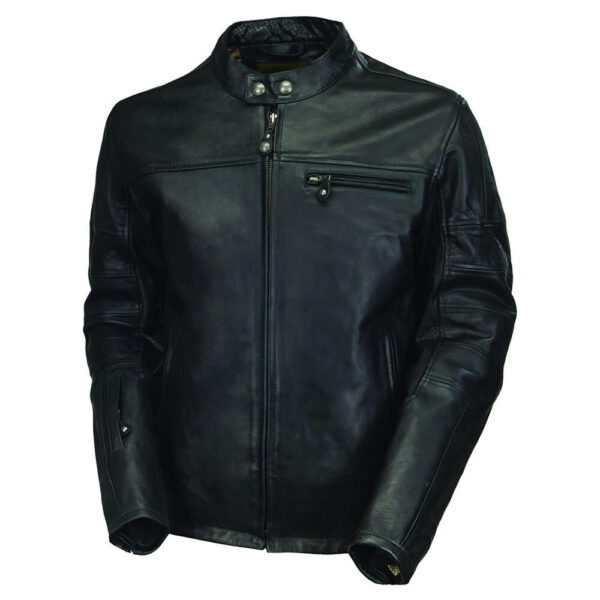 Black Casual Leather Jacket 1 / Leather Factory Shop / LFS