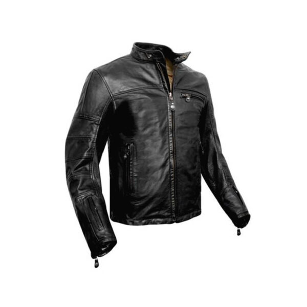 Black Casual Leather Jacket 2 / Leather Factory Shop / LFS