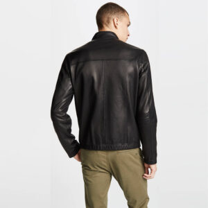 Black Zipper Leather Jacket 2 / Leather Factory Shop / LFS