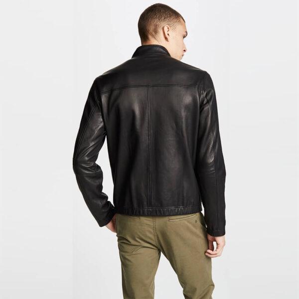 Black Zipper Leather Jacket 2 / Leather Factory Shop / LFS