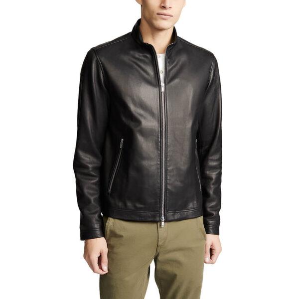 Black Zipper Leather Jacket 6 / Leather Factory Shop / LFS