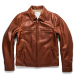 Classic Brown Moto Leather Jacket 1 / Leather Factory Shop / LFS