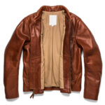 Classic Brown Moto Leather Jacket 2 / Leather Factory Shop / LFS