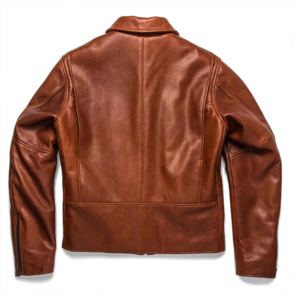 Classic Brown Moto Leather Jacket 3 / Leather Factory Shop / LFS