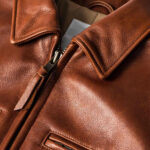 Classic Brown Moto Leather Jacket 5 / Leather Factory Shop / LFS