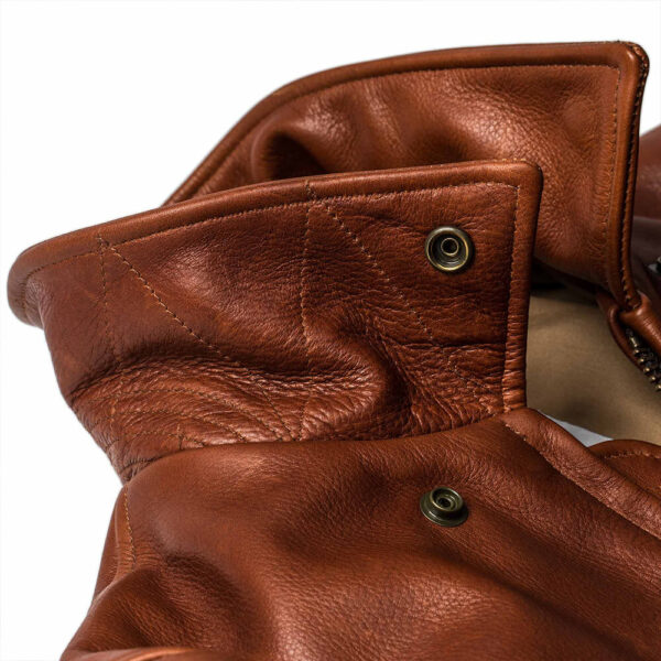 Classic Brown Moto Leather Jacket 6 / Leather Factory Shop / LFS