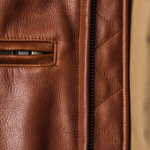 Classic Brown Moto Leather Jacket 7 / Leather Factory Shop / LFS