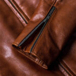 Classic Brown Moto Leather Jacket 8 / Leather Factory Shop / LFS