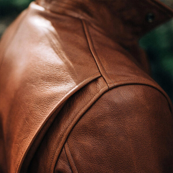 Classic Brown Moto Leather Jacket 92 / Leather Factory Shop / LFS