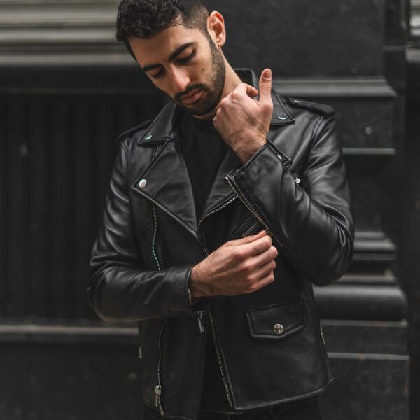Gangster Leather Jacket 7 / Leather Factory Shop / LFS