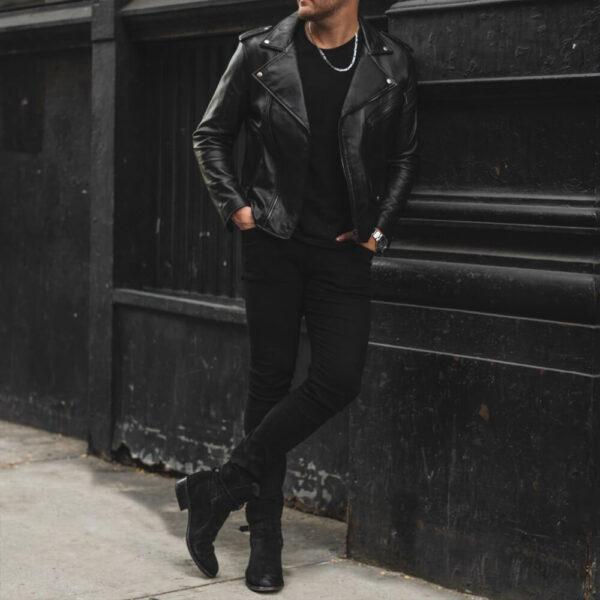 Gangster Leather Jacket 8 / Leather Factory Shop / LFS