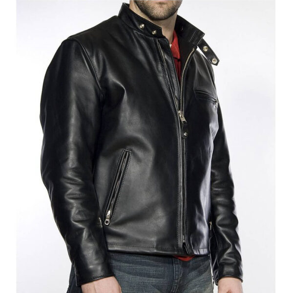 Racer Leather Jacket 3 / Leather Factory Shop / LFS