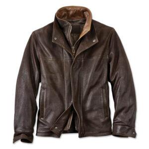 Trucker Leather Jacket 1 / Leather Factory Shop / LFS