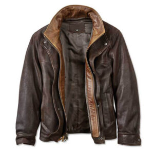 Trucker Leather Jacket 2 / Leather Factory Shop / LFS