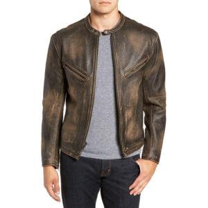 Vintage Racer Leather Jacket 1 / Leather Factory Shop / LFS