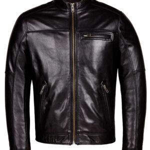 Designer Biker Black LFS Leather Jacket 2 / Leather Factory Shop / LFS