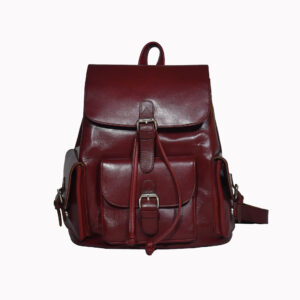 Brooklyn Leather Backpack Maroon 1 / Leather Factory Shop / LFS
