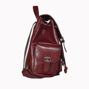 Brooklyn Leather Backpack Maroon 2 / Leather Factory Shop / LFS