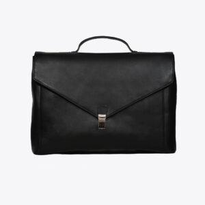 LFS's Maverick Black Leather Briefcase 1 / Leather Factory Shop / LFS