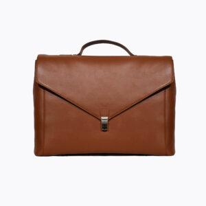 LFS's Maverick Tan Leather Briefcase 1 / Leather Factory Shop / LFS