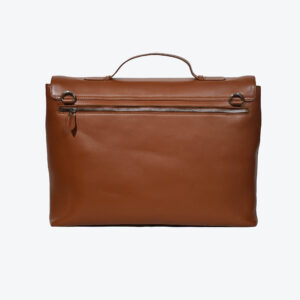 LFS's Maverick Tan Leather Briefcase 2 / Leather Factory Shop / LFS
