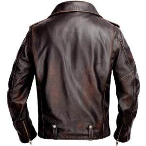 Double Breasted Brando Style Motorcycle Jacket